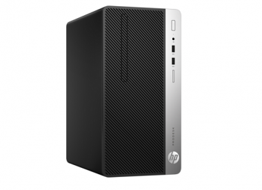 HP ProDesk 400 G4 Microtower PC with FreeDOS 2.0; Intel® Core™ i5-7500 with Intel HD Graphics 630 (3.4 GHz, up to 3.8 GHz with Intel Turbo Boost, 6 MB cache, 4 cores); 4 GB DDR4-2400 SDRAM (1 x 4 GB); 500 GB 7200 rpm SATA_1HT54PA