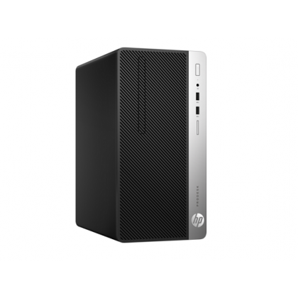 HP ProDesk 400 G4 Microtower PC with FreeDOS 2.0; Intel® Core™ i5-7500 with Intel HD Graphics 630 (3.4 GHz, up to 3.8 GHz with Intel Turbo Boost, 6 MB cache, 4 cores); 4 GB DDR4-2400 SDRAM (1 x 4 GB); 1 TB 7200 rpm SATA_1AY74PT